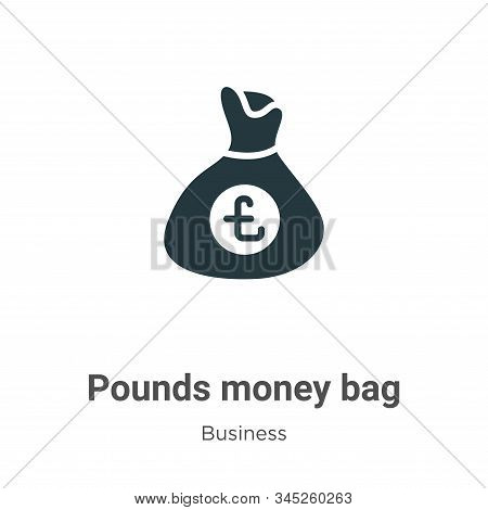 Pounds money bag vector icon on white background. Flat vector pounds money bag icon symbol sign from modern business collection for mobile concept and web apps design. stock photo