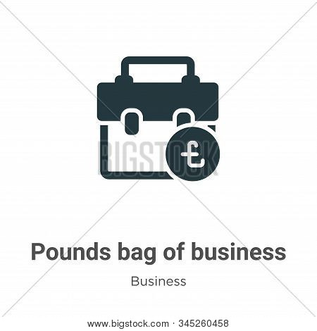 Pounds bag of business vector icon on white background. Flat vector pounds bag of business icon symbol sign from modern business collection for mobile concept and web apps design. stock photo