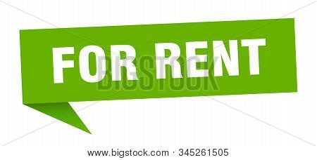 for rent speech bubble. for rent sign. for rent banner stock photo