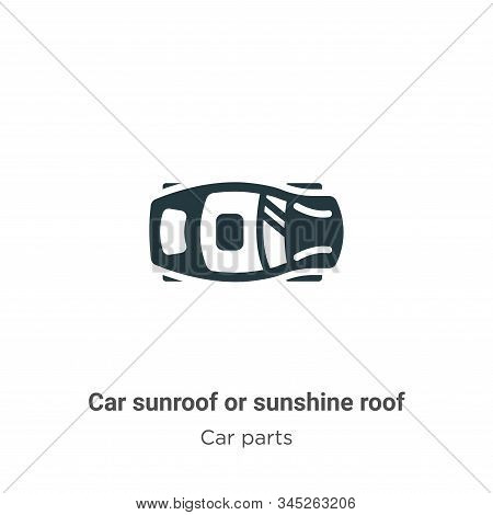 Car sunroof or sunshine roof vector icon on white background. Flat vector car sunroof or sunshine roof icon symbol sign from modern car parts collection for mobile concept and web apps design. stock photo