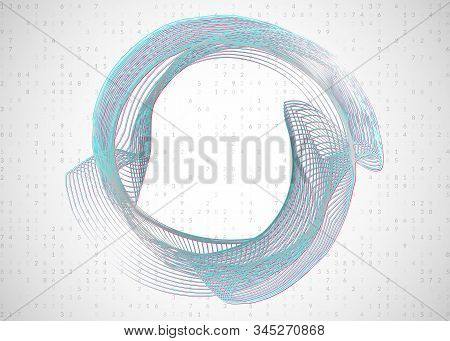 Artificial intelligence. Abstract background. Digital technology, deep learning and big data concept. Tech visual for information template. Wavy artificial intelligence backdrop. stock photo
