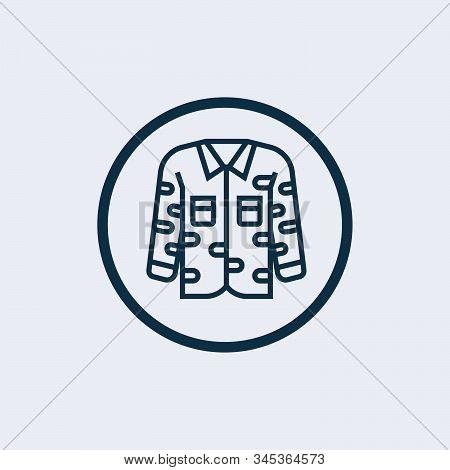 Uniform icon isolated on white background. Uniform icon simple sign. Uniform icon trendy and modern symbol for graphic and web design. Uniform icon flat vector illustration for logo, web, app stock photo