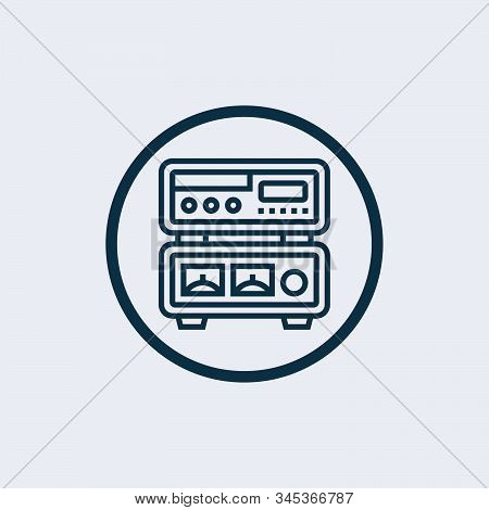 Amplifier icon isolated on white background. Amplifier icon simple sign. Amplifier icon trendy and modern symbol for graphic and web design. Amplifier icon flat vector illustration for logo, web, app stock photo