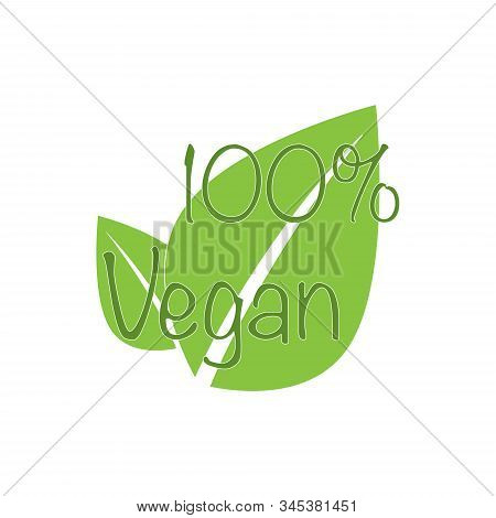 Icon for vegan food. Bio, Ecology, Organic logos and badges. Vegetarian food icon suitable for info graphics, websites and print media. Vector icon eps 10 stock photo