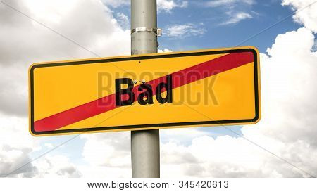 Street Sign the Direction Way to Good versus Bad stock photo