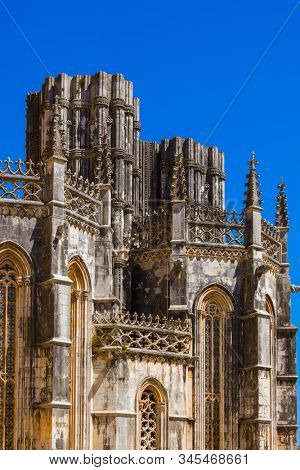 Batalha Monastery - Portugal - architecture background stock photo