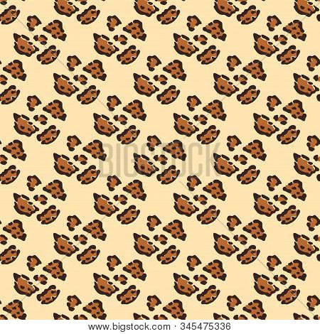 Modern abstract seamless pattern with leopard print. Modern leopard seamless pattern. Animal skin. Vector bright background. Fur animal skin fashion textile, surface design. Textile design, fabric stock photo