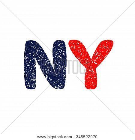 NY logo. new york logo. grunde. vector logo. stock photo