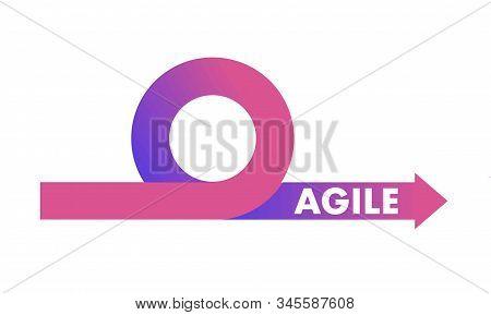 Agile development methodology icon vector illustration. Agile Life Cycle Icon Vector stock photo