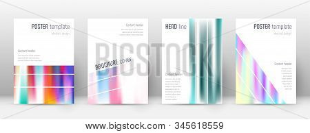 Flyer layout. Geometric memorable template for Brochure, Annual Report, Magazine, Poster, Corporate Presentation, Portfolio, Flyer. Alluring lines cover page. stock photo
