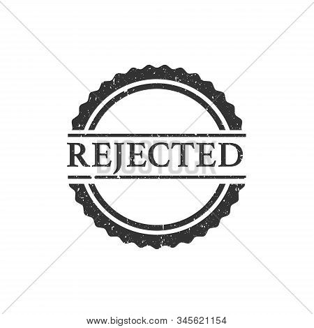 Rejected stamp. Editable vector illustration - rejected text grunge stamp sign - isolated white background stock photo