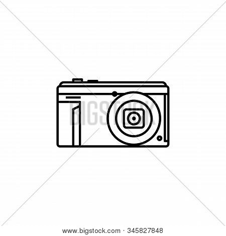 camera line icon. Elements of wedding illustration icons. Signs, symbols can be used for web, logo, mobile app, UI, UX stock photo