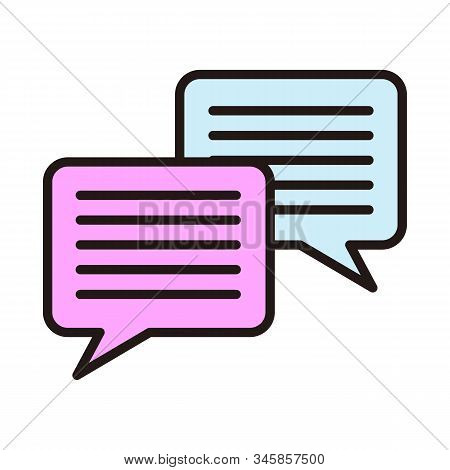 chat icon isolated on white background from miscellaneous collection. chat icon trendy and modern chat symbol for logo, web, app, UI. chat icon simple sign. chat icon flat vector illustration for graphic and web design. stock photo