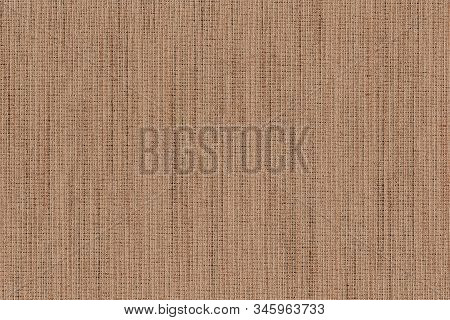 Closeup brown ,dark brown with beige color fabric texture. Strip light brown fabric line pattern design or upholstery abstract background. Hi resolution image. stock photo