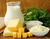 still existence of dairy items (milk, harsh cream, cheddar, curds)