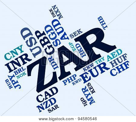 Zar Currency Meaning South Africa Rand And South Africa Rand stock photo