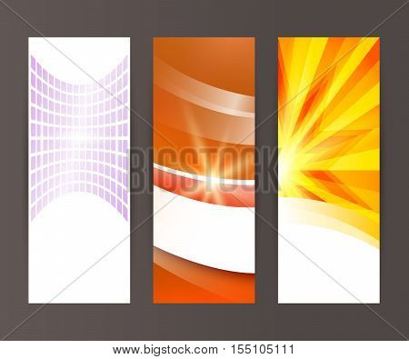 Design elements presentation template. Set vertical banners background backdrop star glow light effect. Vector illustration EPS 10 for web buttons template business card layout web site element stock photo