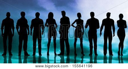 Empowered People with Entrepreneurial Spirit Looking At You 3D Illustration Render stock photo