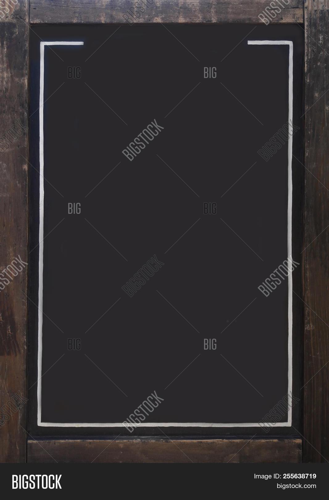 Design Of The Menu On The Black Board. The Menu Template. The Background Of The Menu On The Black Bo