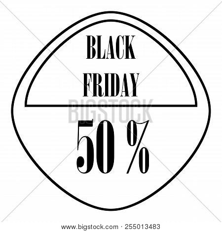 Black Friday sticker 50 percent off icon. Outline illustration of Black Friday sticker 50 percent off icon for web stock photo