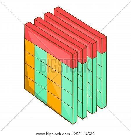 Database query table icon. Cartoon illustration of database query table icon for web design stock photo