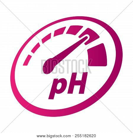 pH increase measurement perspective round vector icon. Speedometer symbol. Medical illustration stock photo