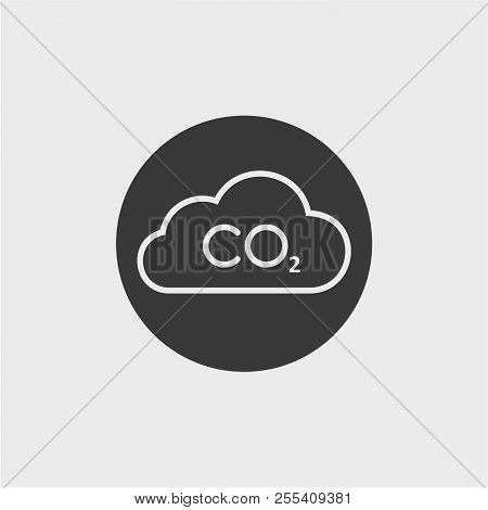 Carbon dioxide flat vector icon. Air, atmosphere flat vector icon stock photo
