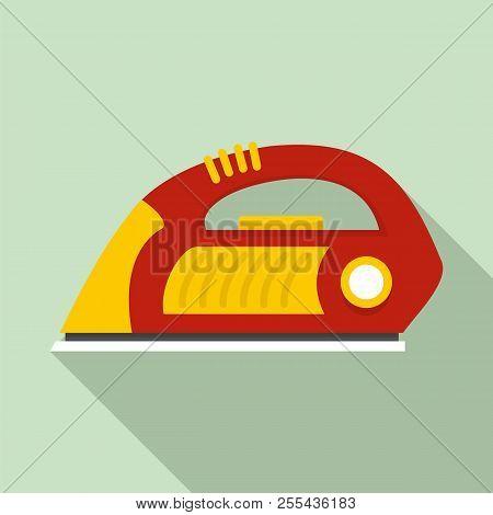 Iron icon. Flat illustration of iron icon for web design stock photo