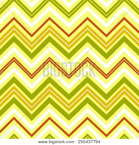 Seamless geometric pattern Zigzag in retro style Design of wallpaper wrapping paper textiles Zigzag pattern for scrapbooking Vintage geometric background retro theme Vector decor pattern stock photo