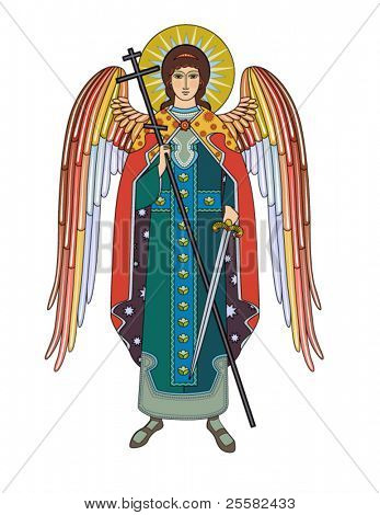Vector icon of Archangel Michael