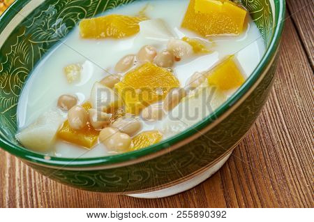 Olan Food set dish from Southern India of the Kerala cuisine stock photo