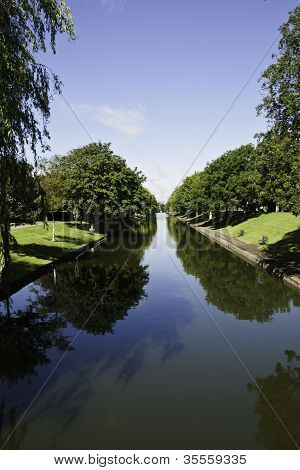 View of the military canal, hythe, kent, england, uk stock photo