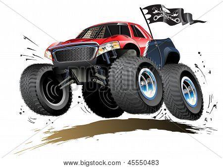 Dessin animé monster buggy