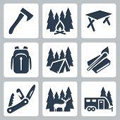 Vector Camping Icons Set