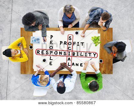 Social Responsibility Reliability Dependability Ethics Concept stock photo