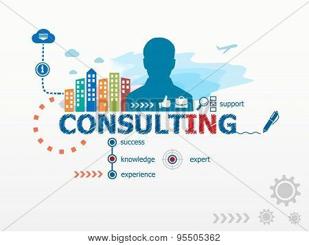 Consulting Concept And Business Man.