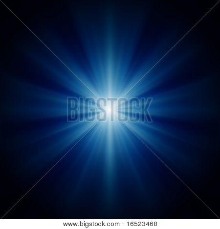 design background of blue luminous rays stock photo