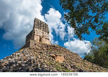 El Mirador mayan pyramid Labna ruins Yucatan Mexico stock photo