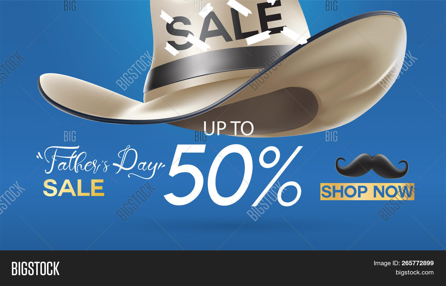 Happy Father S Day Sale Creative Promotion Poster Or Banner Shopping Template Design With 50 Off O 265772899 Image Stock Photo