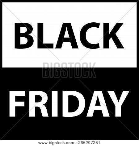 Black Friday sale black tag advertising round banner vector illustration stock photo