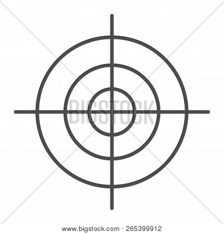 Goal thin line icon. Aim vector illustration isolated on white. Target outline style design, designed for web and app. Eps 10. stock photo