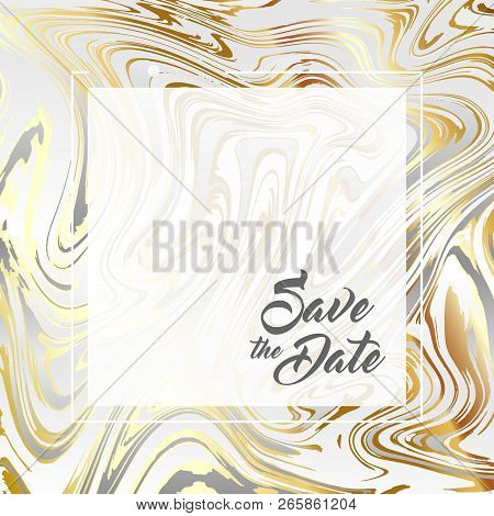 Abstract background, vector marble texture imitation. Marbleized pattern vector. Wedding invitation template with liquid suminagashi ebru ink background. Pastel marbling texture effect. stock photo
