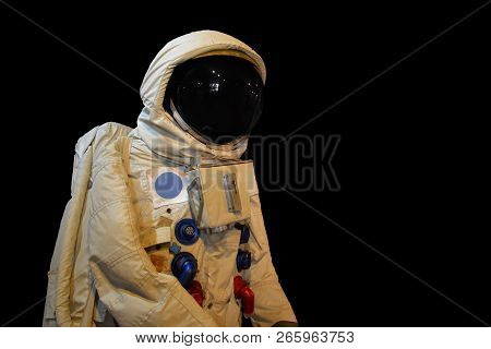 Astronaunt low angle shot and isolate background stock photo