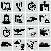 Shipping and conveyance symbols set.