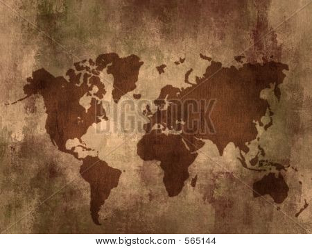 old world map with textures stock photo