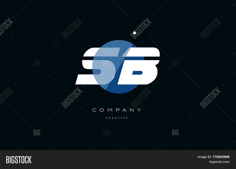 🔥 Sb S B Blue White Circle Big Font Alphabet Company Letter Logo