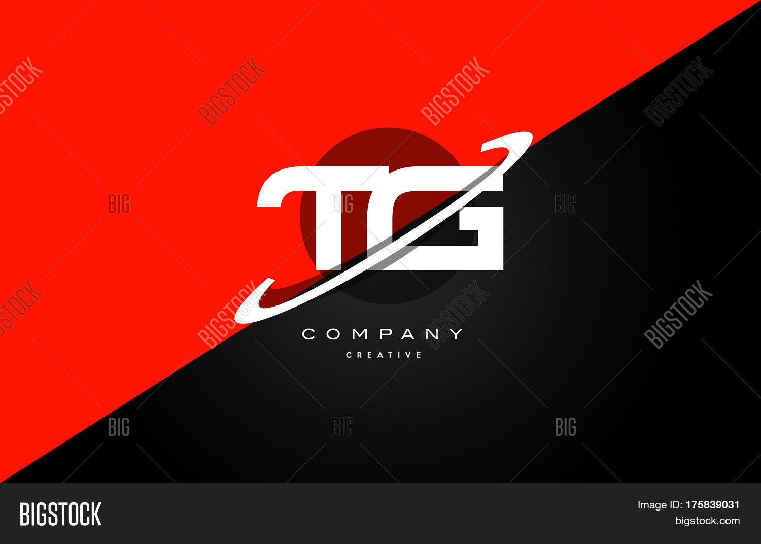 Tg T G Red Black Technology Alphabet Company Letter Logo Icon