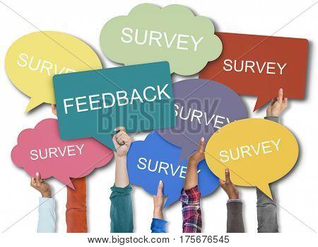 Feedback Survey Words Speech Bubble