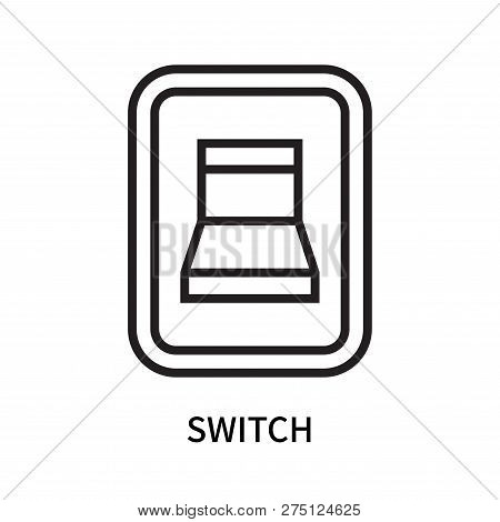 Switch icon isolated on white background. Switch icon simple sign. Switch icon trendy and modern symbol for graphic and web design. Switch icon flat vector illustration for logo, web, app, UI. stock photo