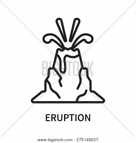 Eruption icon isolated on white background. Eruption icon simple sign. Eruption icon trendy and modern symbol for graphic and web design. Eruption icon flat vector illustration for logo, web, app, UI. stock photo